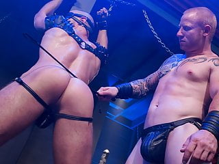 Mild bondage scene dudes...