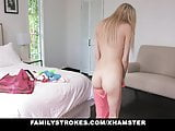 FamilyStrokes - Kinky Blonde Gags On Her Grandpa's Cock