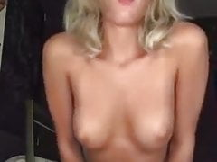 21 year old blonde strips to show off that sexy body