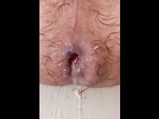 dripping from up ass my out close cum