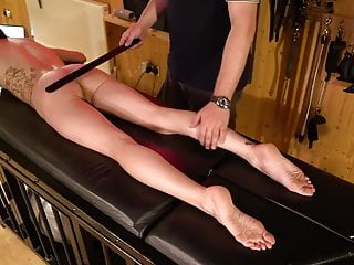 Amateur Maledom Spanking and Caning Punishment, Bastinado
