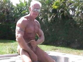 Masturbating outside in pool...