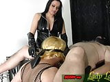Sklave learn how make blowjob for femdom lady domina