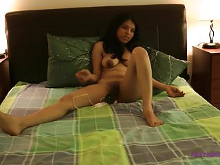 Kavya Desi Pornstar In Her Bed room Fucking Herself With Bi