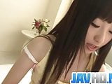Arisa Nakano Admires The Sight Of Her Own Pussy