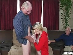 sweet blonde stacie is shared between two old dudesPorn Videos