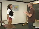 POV Horny And Beautiful Teen Corners Her Teacher