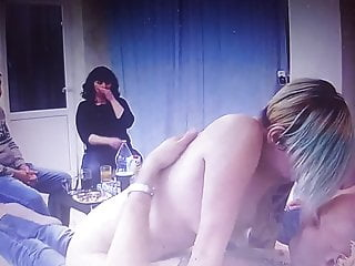 {Couples} have intercourse at residence with onlookers in the lounge