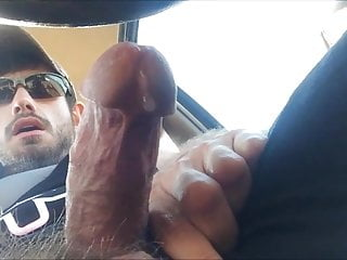 Str8 muscle with big precum in car 3...