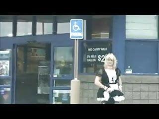 Sissy maid public humiliation...