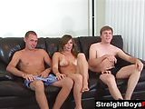 Threesome sex with babe and bisexuals