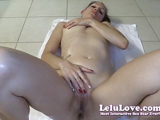 Lelu LoveRubbing Cum And Oil On My Naked Body