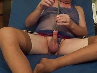 Shemale transvestite lingerie dildo sounding uretral 37...