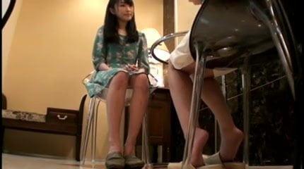 Frantic dirty sexy horny Japanese Lesbian Massage Sex