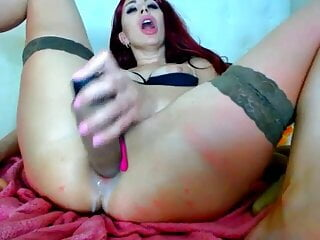 Anal dildo squirting