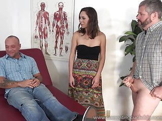 Husband suck dick and watch her get fucked...