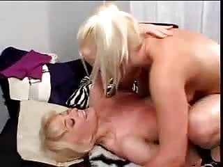 Seducing a young blonde