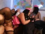 Black Stockings Hostess MADISON PARKER & YASMINE Foursome