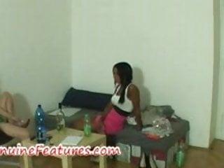 Beautiful ebony at the erotic casting...