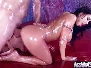 Sexy oiled girl alison tyler enjoy hard anal...