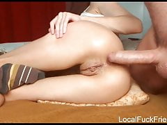 Skinny Nymph Gets Backside Plunged By Her Man