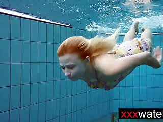 Amateur blonde mermaid...