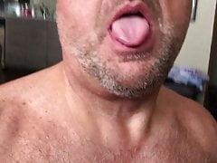 On my knees masturbating
