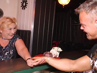 lady young fuck bartender meet Mature and