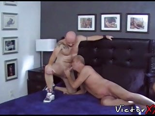 Group amateur with several men...