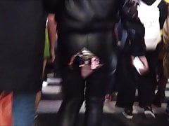Japanese Leather Pants Vs Leather Mini-skirt Spycam