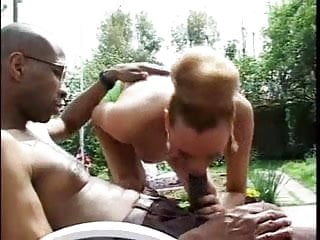 black with a huge cock fucks a shemale