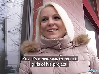 Public Agent Sexy blonde Lucy Shine enjoys money for intercourse