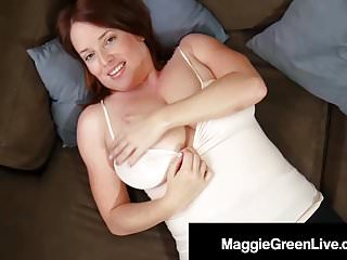 Herbal Boobed Maggie Inexperienced Fondles & Pinches Her Massive Knockers!