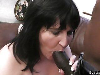 Brunette bbw enjoys cock...