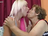 Young daughter gets grandmother's love