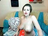 Chubby model from Latvia on webcam