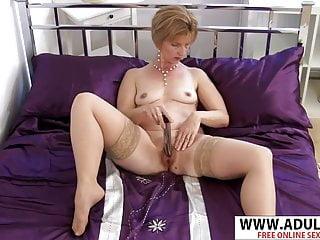Sexy gilf masterbating in stockings...