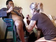 booty white wife sucks that big black dick