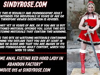 Fisting red hood lady in abandon factory...