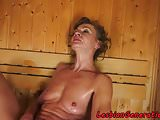 Lesbian beauty fingered by granny in a spa