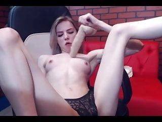 Throatfuck blonde camslut...