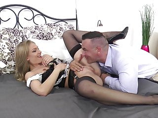 Maid Black Stockings LUCY HEART Hard Fucking