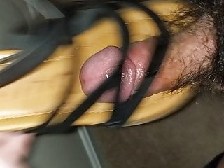 sandals on Genevieve's and cum Fuck