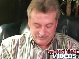 Older hairy man does solo interview and masturbates...