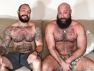 Horny bears sex...