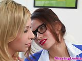 Lesbian girlfriend pussylicking and fingering