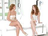Pre party surprise - lesbian scene with Sylvia Lauren a