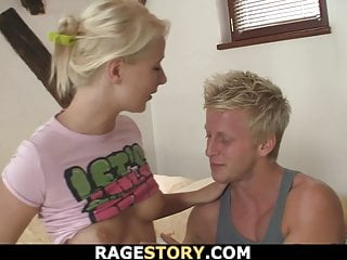 Hot blonde girk takes and fuck...