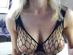 Hot Milf playing with her Huge Tits