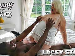 GRANNYLOVESBLACK - Busty Granny takes BBC up the ass
